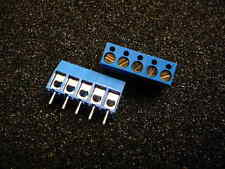"5-Pos Wire to Board Terminal Block Horizontal with Board 0.200"" (5.08mm)  Qty.2"