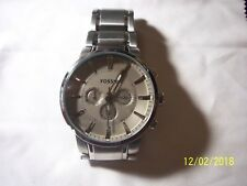 FOSSIL Chronograph Grey Dial Stainless Steel Men's Watch FS4359  FREE SHIP