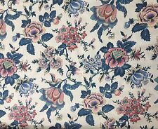 "Waverly Upholstery Drapery Fabric NANTUCKET Floral 52"" x 7 plus YD Yards"
