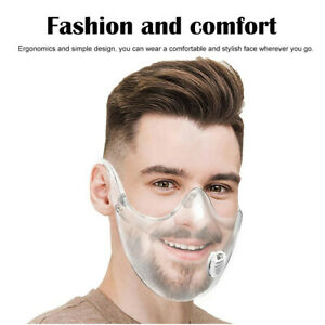 Plastic Safety Face Mouth Mask Shield Cover Filter Clear Transparent Protection