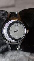 Made in Italy Armband Armreif Uhr silber schwarz blogger edel Edelstahl Spange