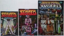 Spaced Underground Comix full set 1-2-3 Lot Jim Pinkoski comic art Very Rare Set