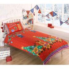 Linge de lit et ensembles Noël rouges en polyester