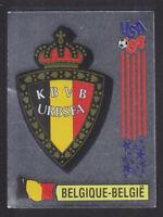 Panini - USA 94 World Cup - # 382 Belgique Foil Badge (Black Back)