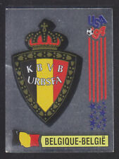 Panini - USA 94 World Cup - # 382 Belgique Foil Badge (Black Back)