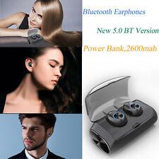 Auriculares Bluetooth V5.0 TWS Inalambricos con caja de carga cascos Power Bank