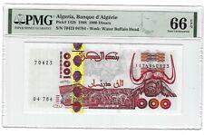 P-142b 1998 1000 Dinars, Algeria Banque d' Algerie, PMG 66EPQ GEM +