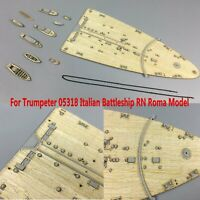 1/350 Wooden Deck Parts for Trumpeter #05318 Italian Battleship RN Roma Model