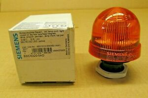 NIB SIEMENS 8WD5320-5AD 8WD53205AD STACKLIGHT 24V AC/DC AMBER 24 VOLT (20 AVAIL)