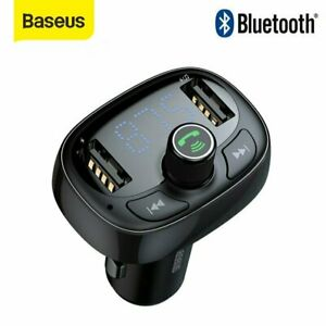 Baseus Handsfree Bluetooth Wireless Car FM Transmitter MP3 Player 2 USB Charger