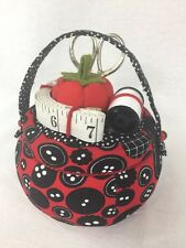 Pin Cushion and Sewing Accessory Box Scissor And Measuring Tape Holder