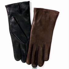 ComfortIQ Womens Thinsulate Black Leather Heat Storing Winter Gloves Large