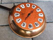 POELE decoration MURALE clock CUIVRE COPPER PAN kupfer kupferPfanne UHR MONTRE