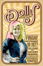 Dolly Parton 1977 Concert Poster