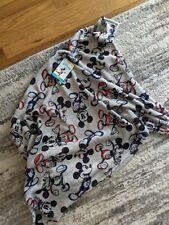 "Disney Mickey Mouse, Gray Super Soft Plush French Fiber Baby Blanket 30"" x 36"""