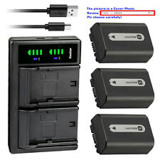 Kastar Battery LCD Dual Charger for Sony NP-FH30 NP-FH40 NP-FH50 NP-FH70 NPFH100