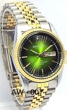 Swanson Men Two-tone, Green Dial, 1 Saphire-Crystal, Dress Watch