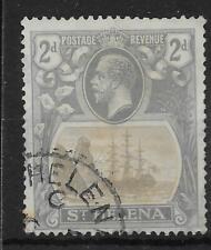 ST.HELENA SG100a 1923 2d BROKEN MAINMAST FINE USED