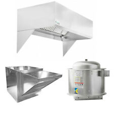Hoodmart 8x48 Restaurant Type 1 Commercial Kitchen Hood System With Makeup Air