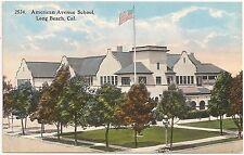 American Avenue School in Long Beach CA Postcard