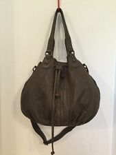 Nordstrom Rich Milk Chocolate Brown Lambs Leather Drawstring Bucket Hobo Purse