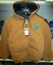 """Carhartt 100962 """"S"""" Embroidered Quilt Lined Hooded Jacket XLG"""