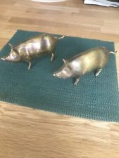 More details for brass pig ornaments x2 small