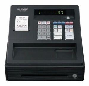 Sharp XE-A137 Black Cash Register + Extra Till Rolls & Protection Batteries