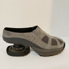 Z-Coil Zueco Gray Suede Comfort Slip On Shoes Clogs Mules Women's Size 7 W