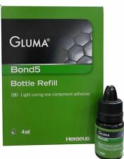 10 Pack of Heraeus-Kulzer Light Cure Gluma Bond 5 Bottle Refill 4ml 5th Gen