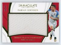 2018-19 FABIAN JOHNSON 48/99 JERSEY PANINI IMMACULATE COLLECTION