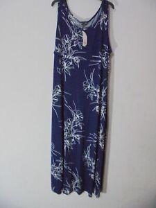Evans Navy Floral Print Summer Maxi Dress Plus Size 26-28 rrp £35