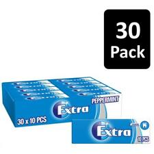 Wrigley's Extra Peppermint Sugar-Free Chewing Gum 10 Pieces Pack Of 30