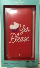NIB KATE SPADE HYBRID HARDSHELL CASE IPHONE 6 P CUPCAKE YES PLEASE CELL PHONE