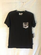 Brooklyn Cloth Men's Short Sleeve Soft Pocket T Shirt,  Black size Small NEW
