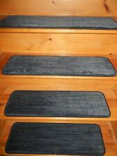 """13 PC STEP 9"""" x 30"""" Stair Treads Staircase Charcoal WOOL TUFTED High Quality !"""