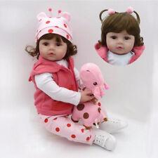 22'' New Reborn Handmade Lifelike Newborn Girl Doll Silicone Vinyl Baby Dolls US