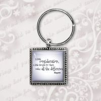 Winnie the Pooh Keyring, Pooh quotes, classic Pooh antique finish handmade Gift