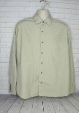 Men's Eddie Bauer Dark Tan Button Front Shirt Size XL Long Sleeve Cotton