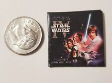 "Miniature Dollhouse  record album Barbie  1/12    1"" Star Wars Movie Action"