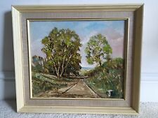 ENGLISH LANDSCAPE COUNTRYSIDE SUMMER DAY OIL PAINTING SURREY SIGNED D. GARRATT