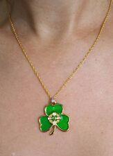 Necklace with Irish Shamrock Enamel Pendant