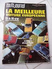 L'Auto-Journal 1971 n°6 Citroen DS Special VW K70 Fiat 128 Rallye Fiat 125S R16