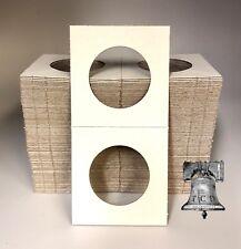100 2x2 KENNEDY Half Dollar Mylar Cardboard Coin Holder Flip BCW 30.6mm Storage