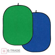 Falthintergrund Hintergrund Blue BLAU & Green Screen 100% Baumwolle 150x200cm
