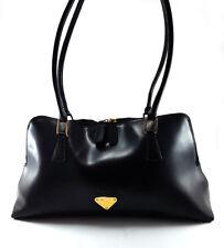 Maison Mollerus Black Leather Tote Bag