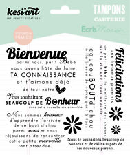 Tampons transparents Kesi'art BIENVENUE BÉBÉ scrapbooking cartes faire part