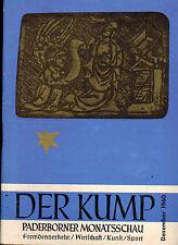 Der Kump, Paderborner Monats-Schau, Paderborn Dezember 1960 Fremdenverkehr Kunst