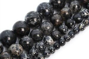 Black Sea Sediment Imperial Jasper Grade AAA Round Loose Beads 4/6/8/10/12MM