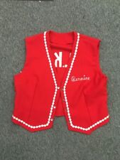Vintage PoLk of A dance club vest red with white trim Oklee Mn polka square